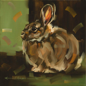 Cottontail Squared II-Painting-Kathryn Ashcroft-Sorrel Sky Gallery