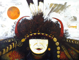 Kevin Red Star-Big Black Wolf-Painting-Sorrel Sky Gallery