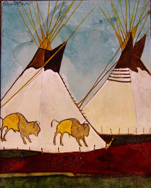 Kevin Red Star-Bison Tipi-Painting-Sorrel Sky Gallery