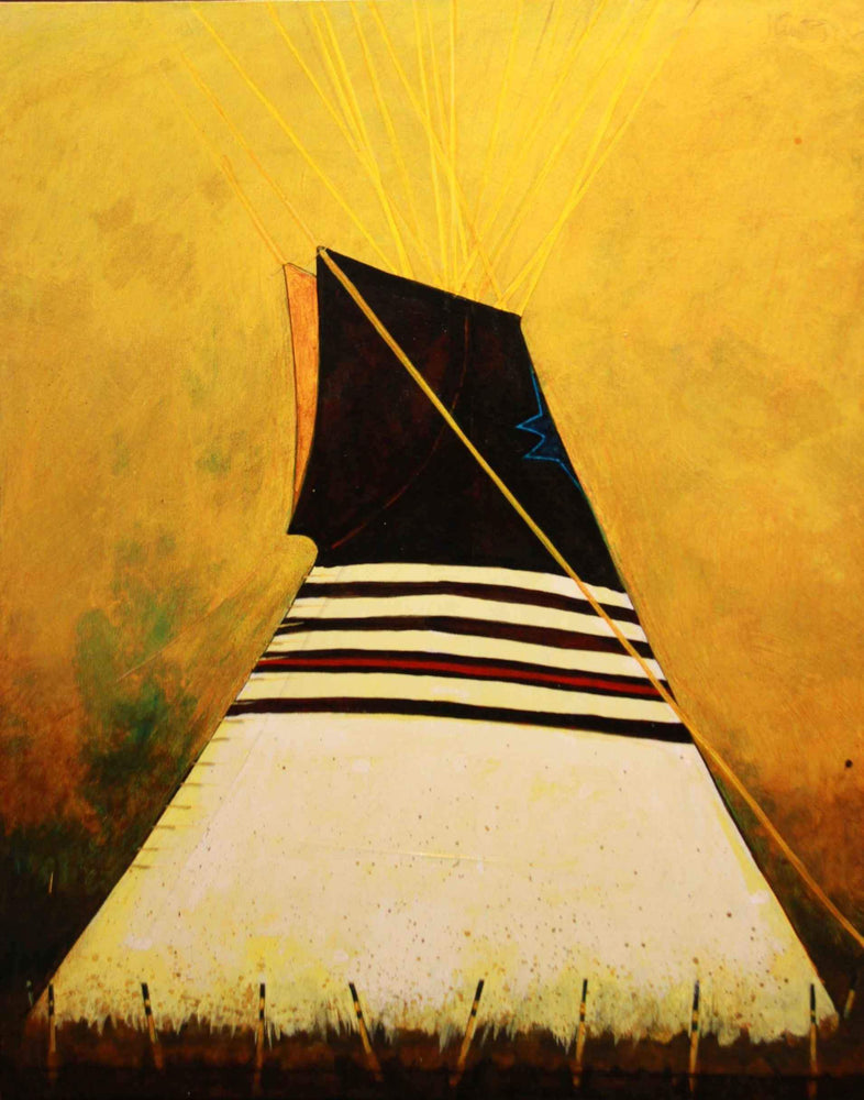 Kevin Red Star-Blackfeet Tipi-Painting-Sorrel Sky Gallery