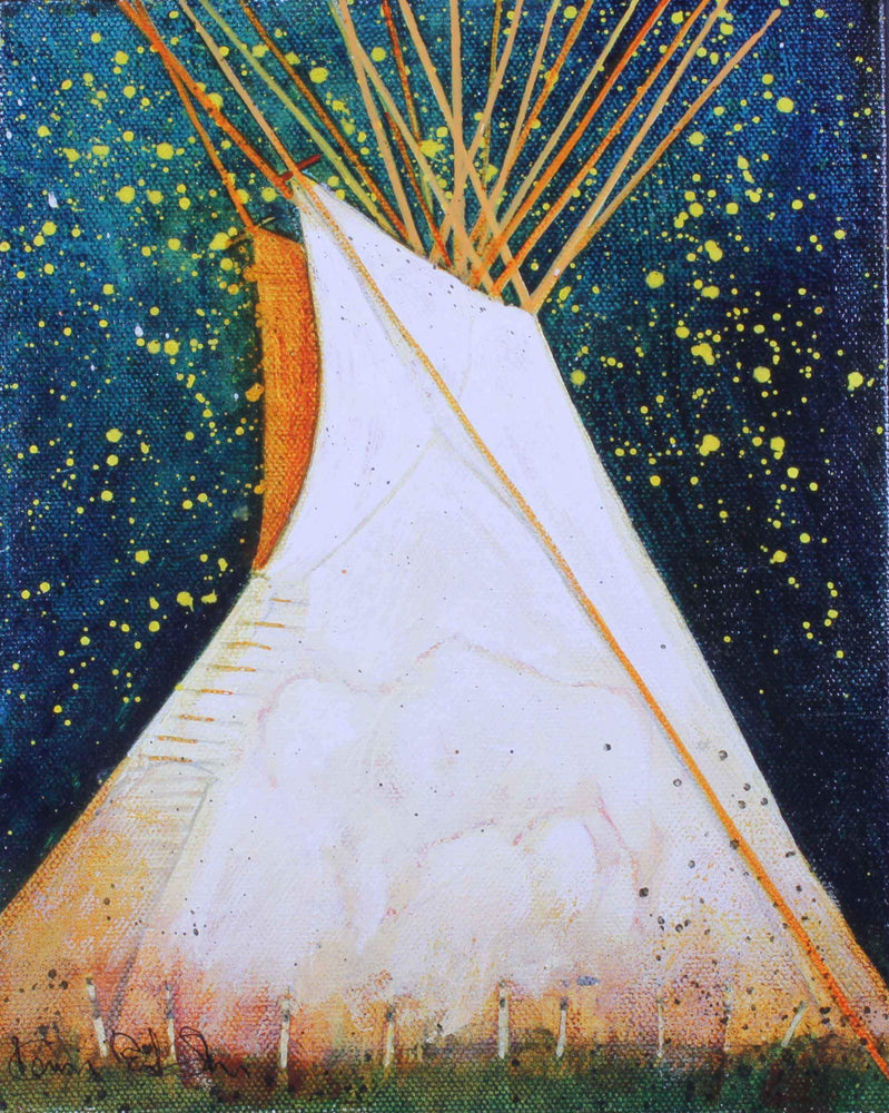 Kevin Red Star-Buffalo Tipi-Painting-Sorrel Sky Gallery