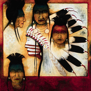 Kevin Red Star-Chief and His Men-Painting-Sorrel Sky Gallery
