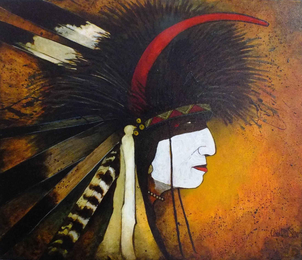 Kevin Red Star-Crazy Dog Warrior - Crow Indian Man-Painting-Sorrel Sky Gallery
