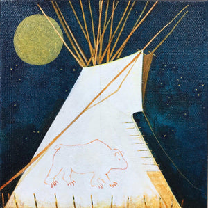 Crow Indian Big Bear Tipi-Painting-Kevin Red Star-Sorrel Sky Gallery