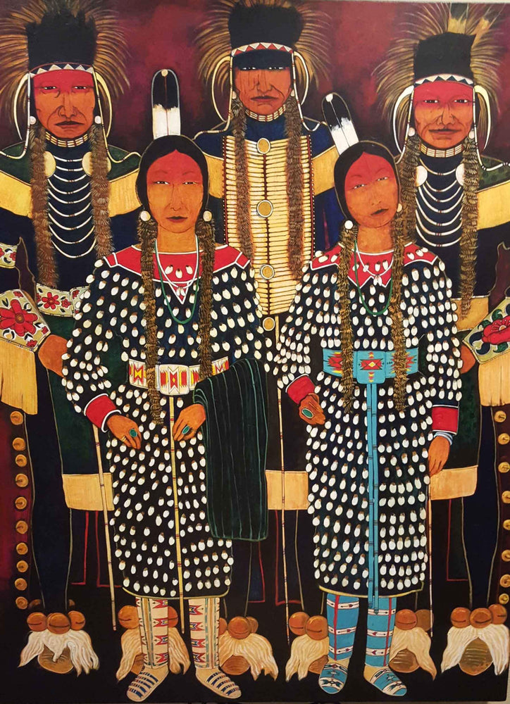 Kevin Red Star-Crow Indian Fair Dancers-Painting-Sorrel Sky Gallery