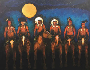 Kevin Red Star-Crow Indian Night Guard-Painting-Sorrel Sky Gallery