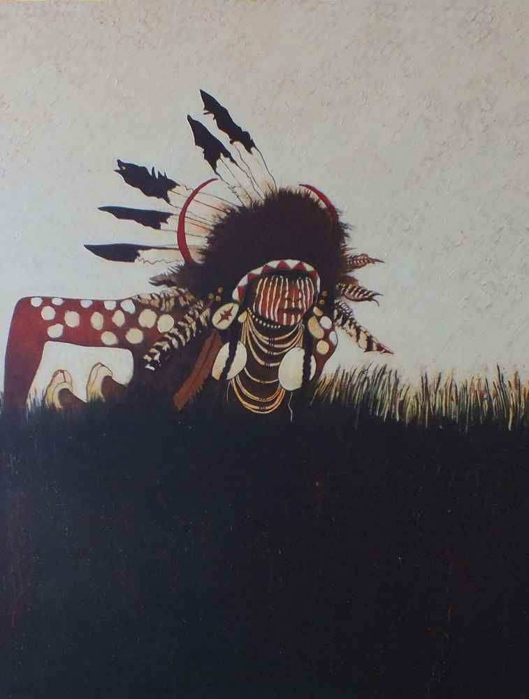 Kevin Red Star-Crow Indian Scout/Two Strikes-Painting-Sorrel Sky Gallery