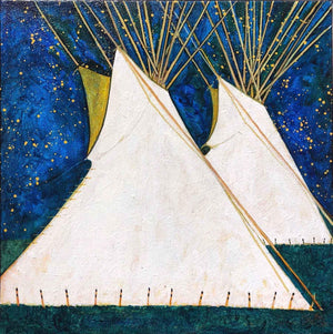 Kevin Red Star-Crow Indian Tipis-Painting-Sorrel Sky Gallery