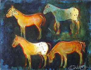 Kevin Red Star-Crow Indian War Ponies-Painting-Sorrel Sky Gallery