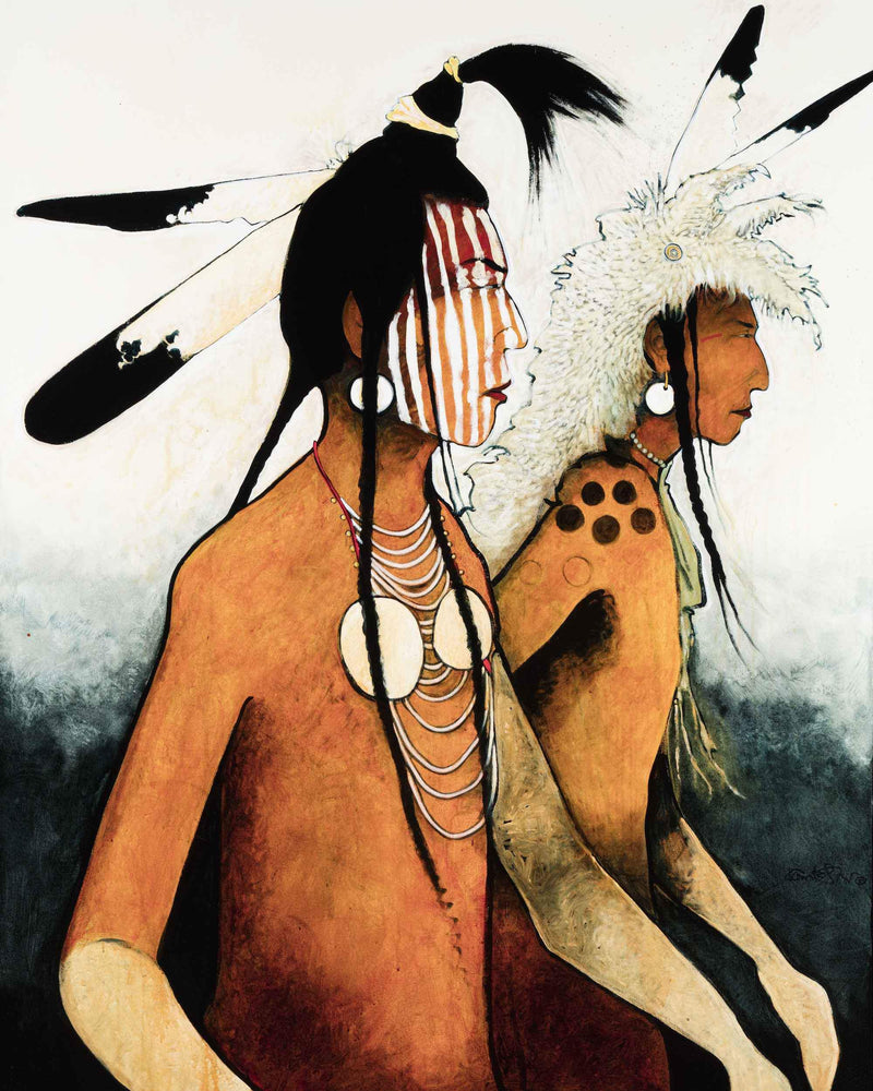 Kevin Red Star-Crow Indian Warriors-Painting-Sorrel Sky Gallery
