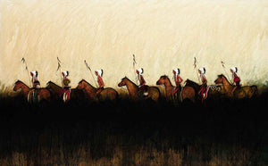 Kevin Red Star-Crow Indians Returning To Camp-Painting-Sorrel Sky Gallery