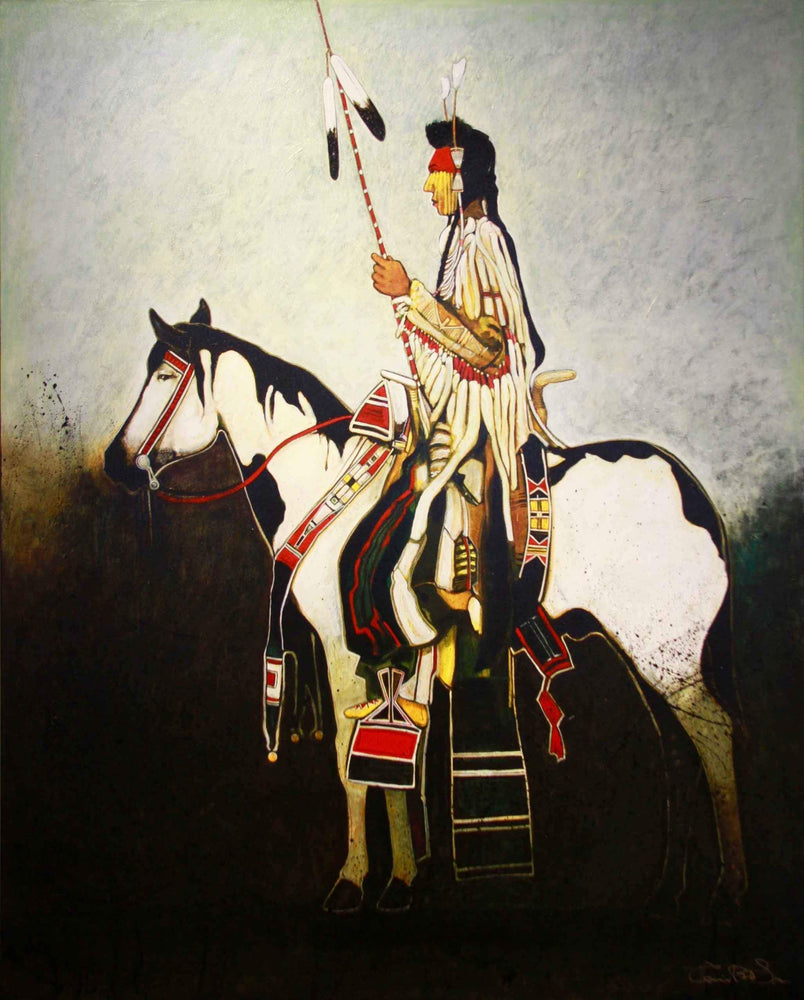 Kevin Red Star-Crow Man On War Horse-Painting-Sorrel Sky Gallery