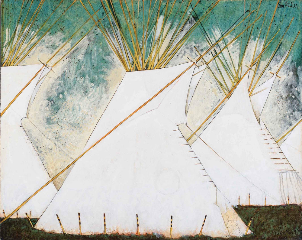 Kevin Red Star-Crow Tipis On The Big Horn-Painting-Sorrel Sky Gallery