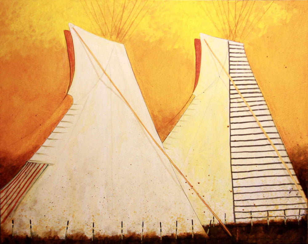 Kevin Red Star-Dakota Tipi-Painting-Sorrel Sky Gallery