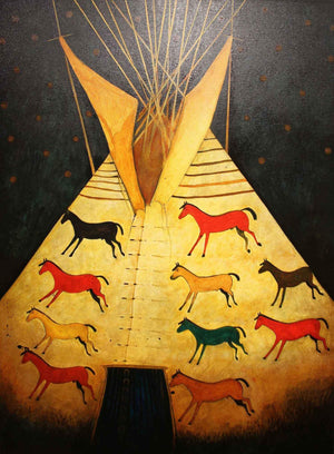 Kevin Red Star-Good Horse's Tipi-Painting-Sorrel Sky Gallery
