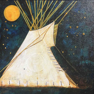 Kevin Red Star-Night Lodge-Painting-Sorrel Sky Gallery