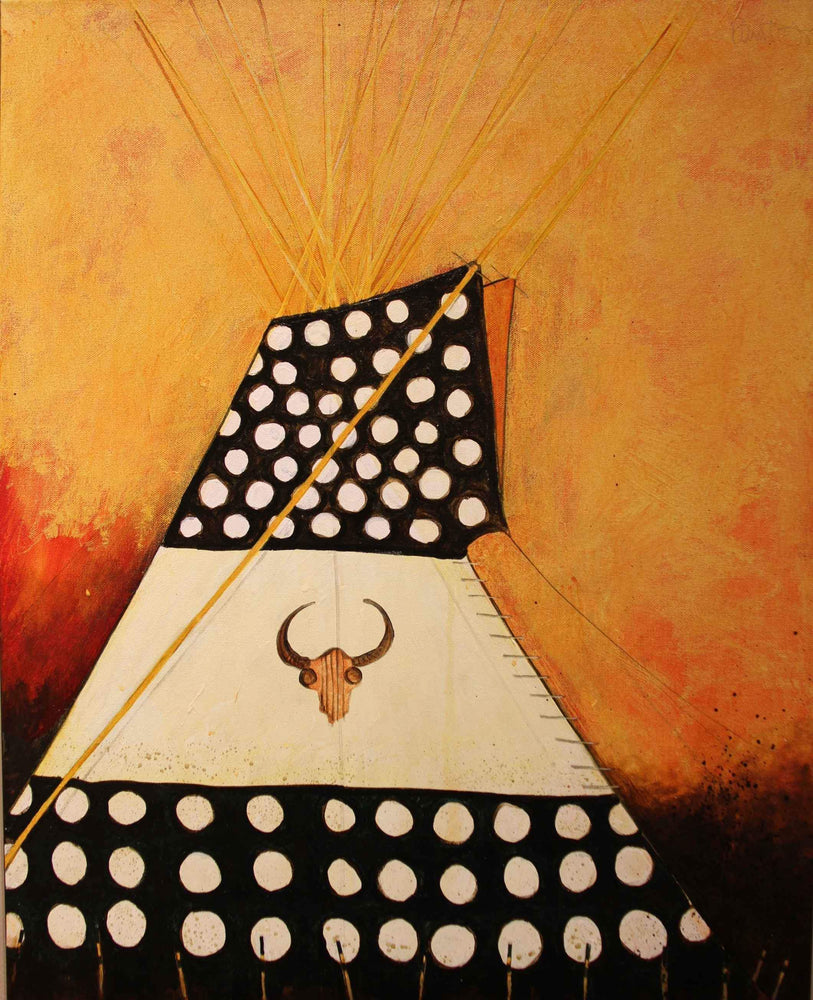 Kevin Red Star-Painted Northern Plains Style Tipi-Painting-Sorrel Sky Gallery