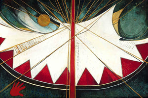 Kevin Red Star-Pretty Shawl's Red Mountain Tipi-Painting-Sorrel Sky Gallery