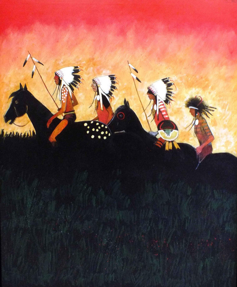 Kevin Red Star-Returning To The Camp-Painting-Sorrel Sky Gallery