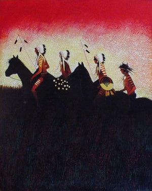 Returning to the Camp-Painting-Kevin Red Star-Sorrel Sky Gallery