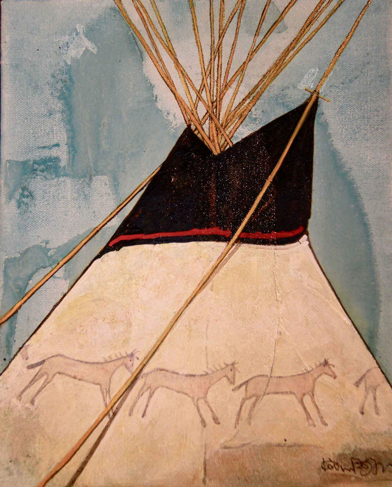 Kevin Red Star-Running Horse's Tipi-Painting-Sorrel Sky Gallery