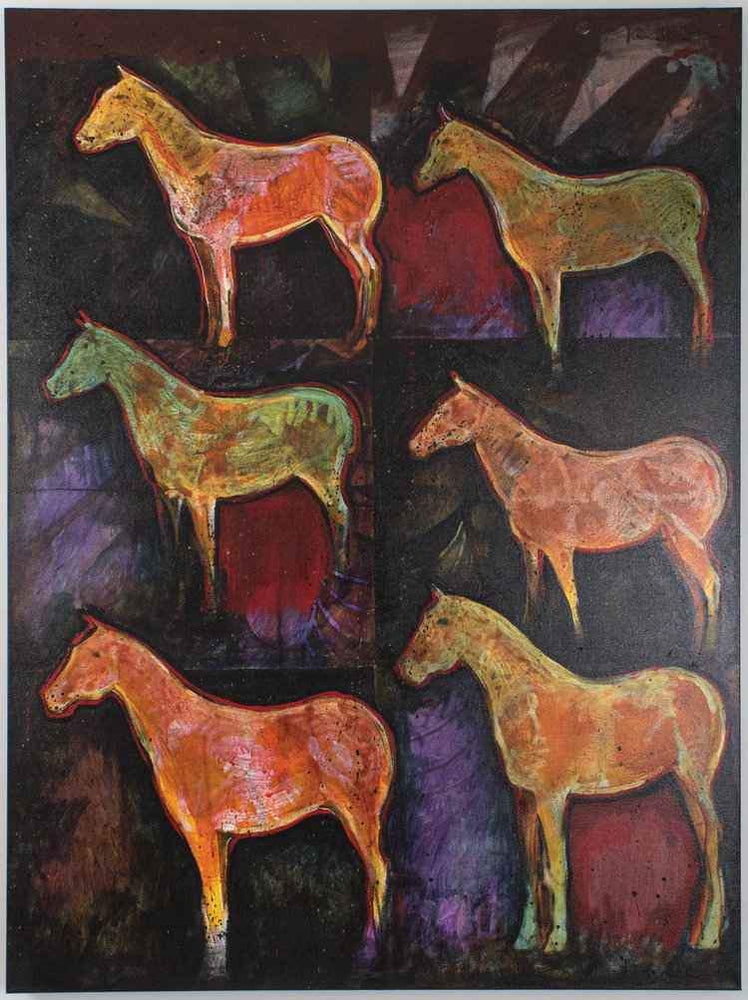 Kevin Red Star-Six Light Horses-Painting-Sorrel Sky Gallery