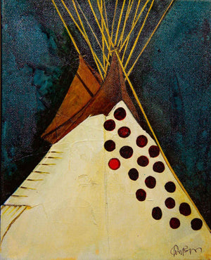 Kevin Red Star-Spotted Tail's Tipi-Painting-Sorrel Sky Gallery