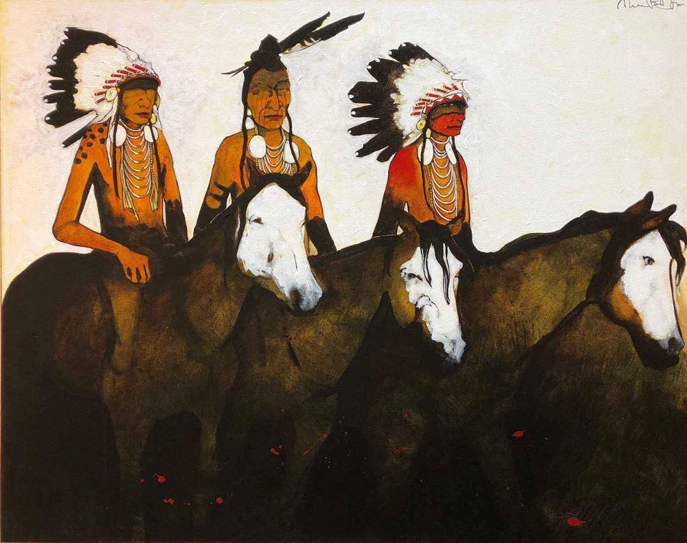 Kevin Red Star-War Council - Crow Indians-Painting-Sorrel Sky Gallery