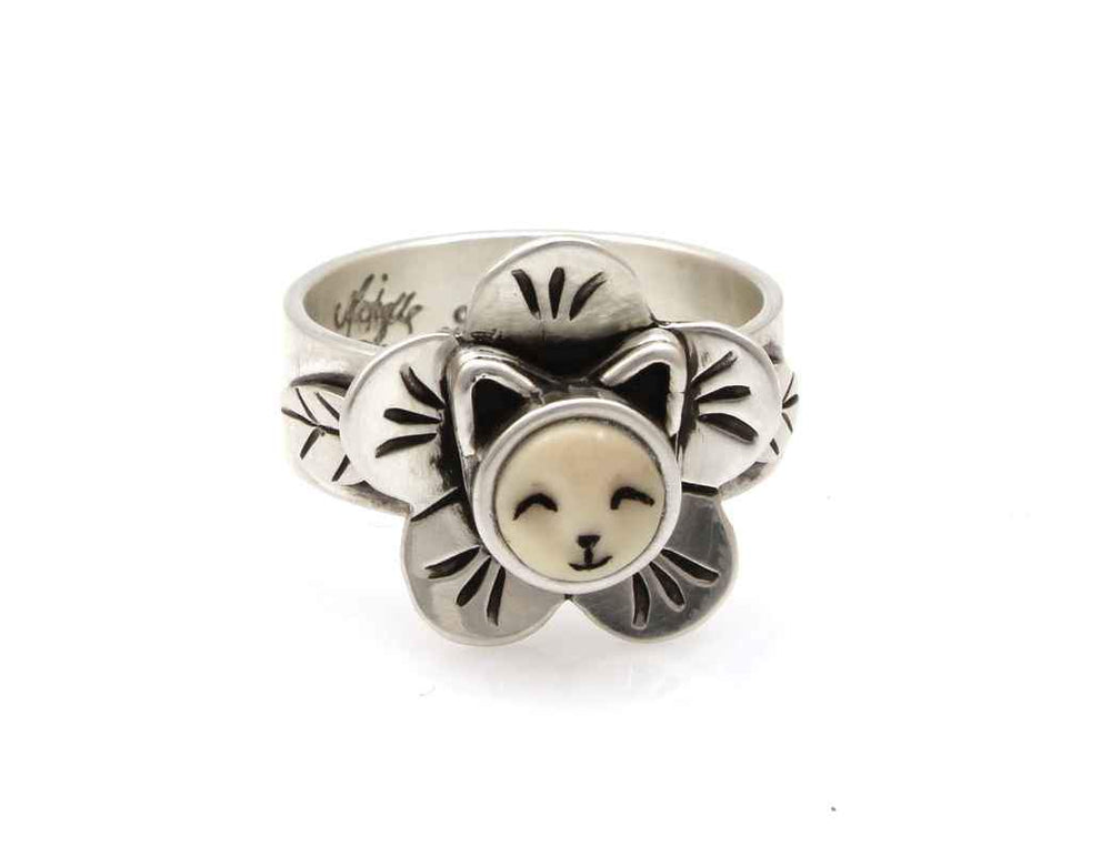 Kitten Face in a flower ring. Michelle Tapia. Sorrel Sky Gallery