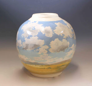 Laura Bruzzese-Sorrel Sky Gallery-Pottery-Patchwork Clouds, Taos