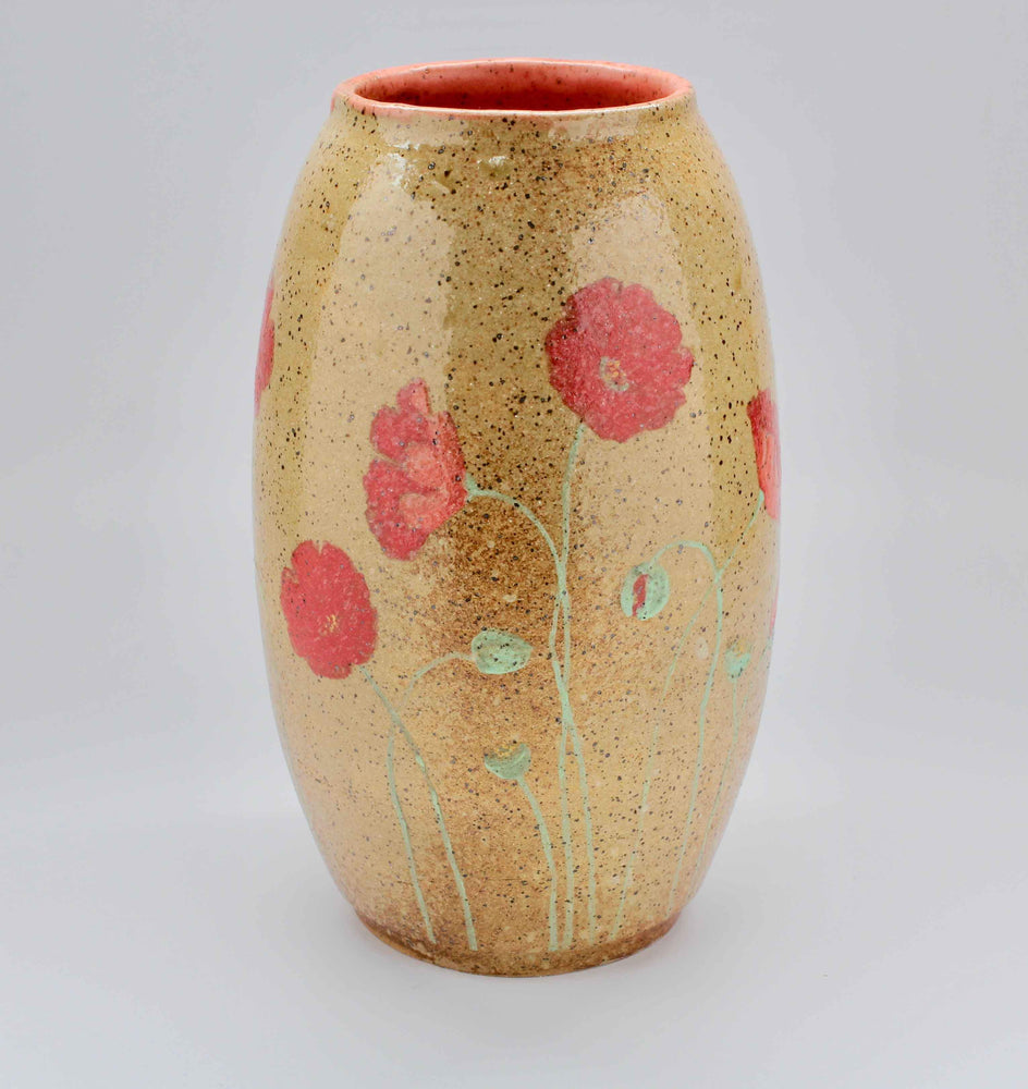 Laura Bruzzese-Sorrel Sky Gallery-Pottery-Poppies Vase