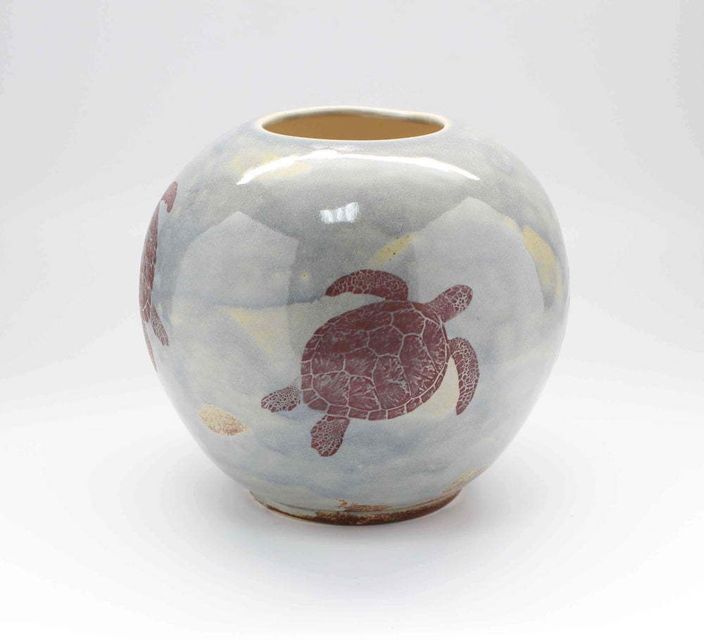 Laura Bruzzese-Sorrel Sky Gallery-Pottery-Turtle Vase