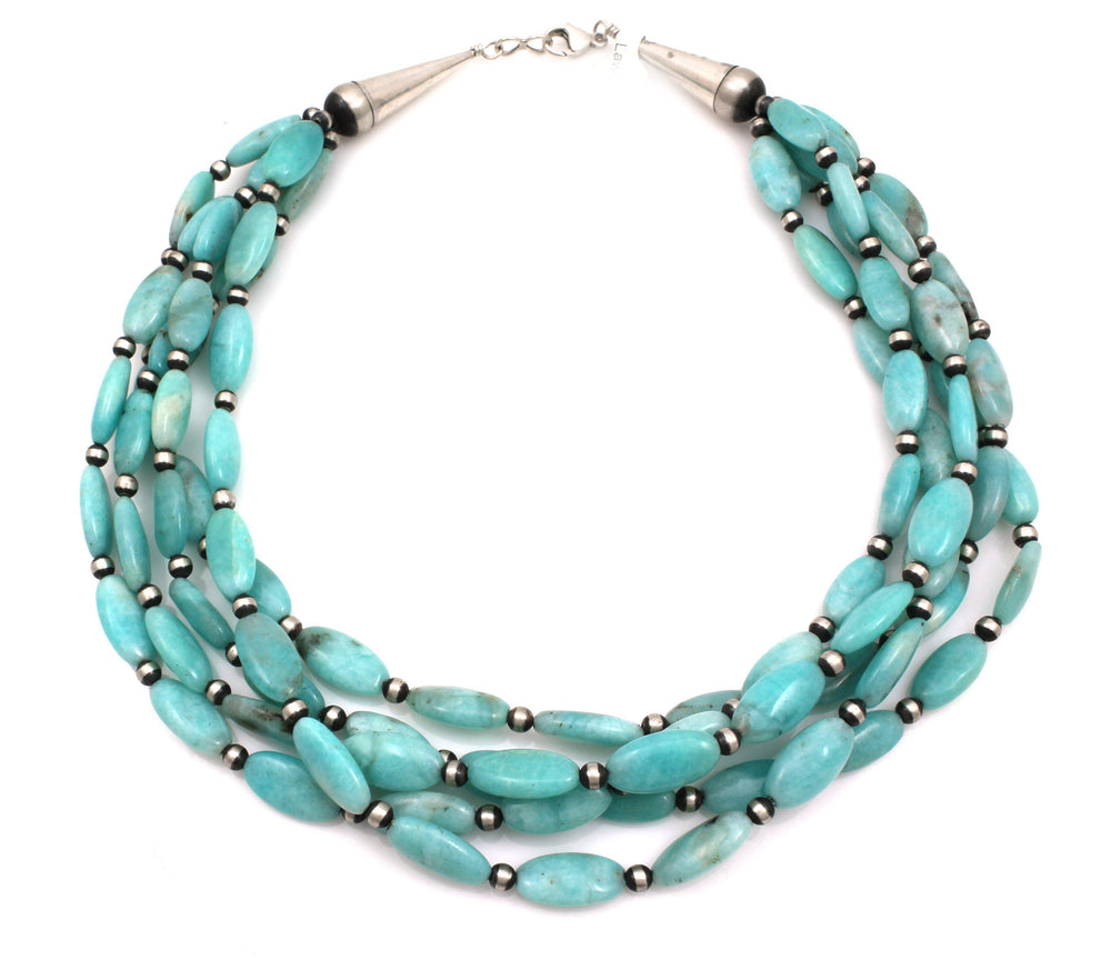 5 Strand Amazonite Bead Necklace