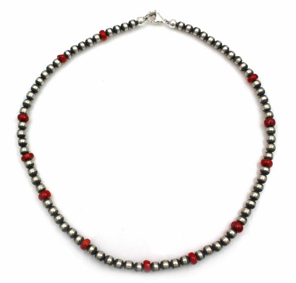 5mm Bead Necklace With Bamboo Coral