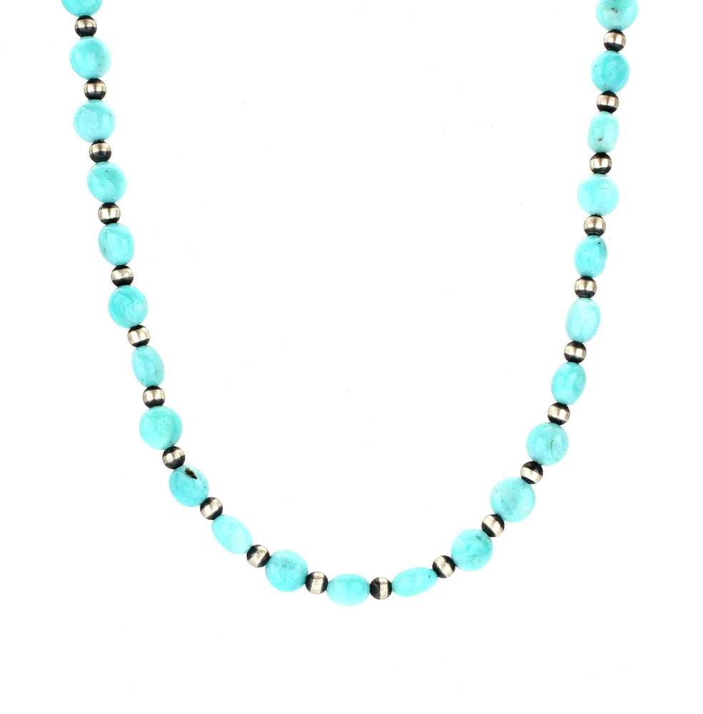 Lawrence Baca-Amazonite Bead Necklace-Sorrel Sky Gallery-Jewelry