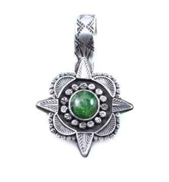 Lawrence Baca-Diopsite Star Pendant-Sorrel Sky Gallery-Jewelry