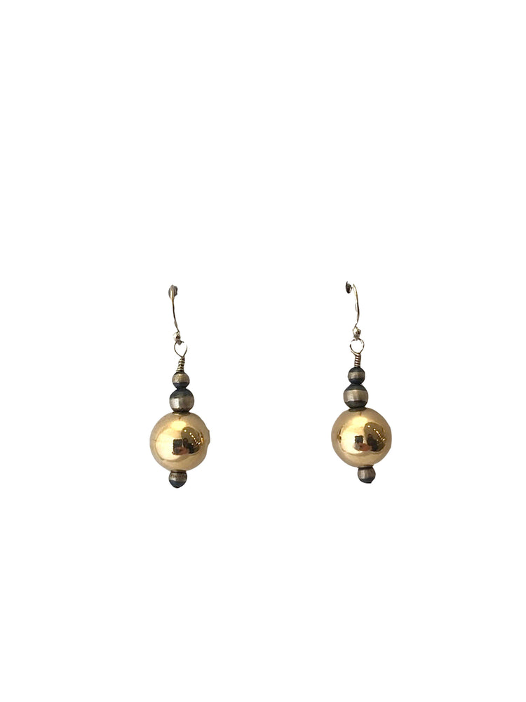 Gold Filled Sterling Silver Earrings-Jewelry-Lawrence Baca-Sorrel Sky Gallery