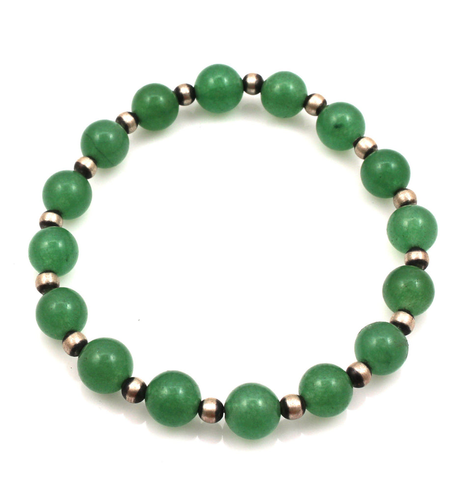 Jade Stretch Bead Bracelet