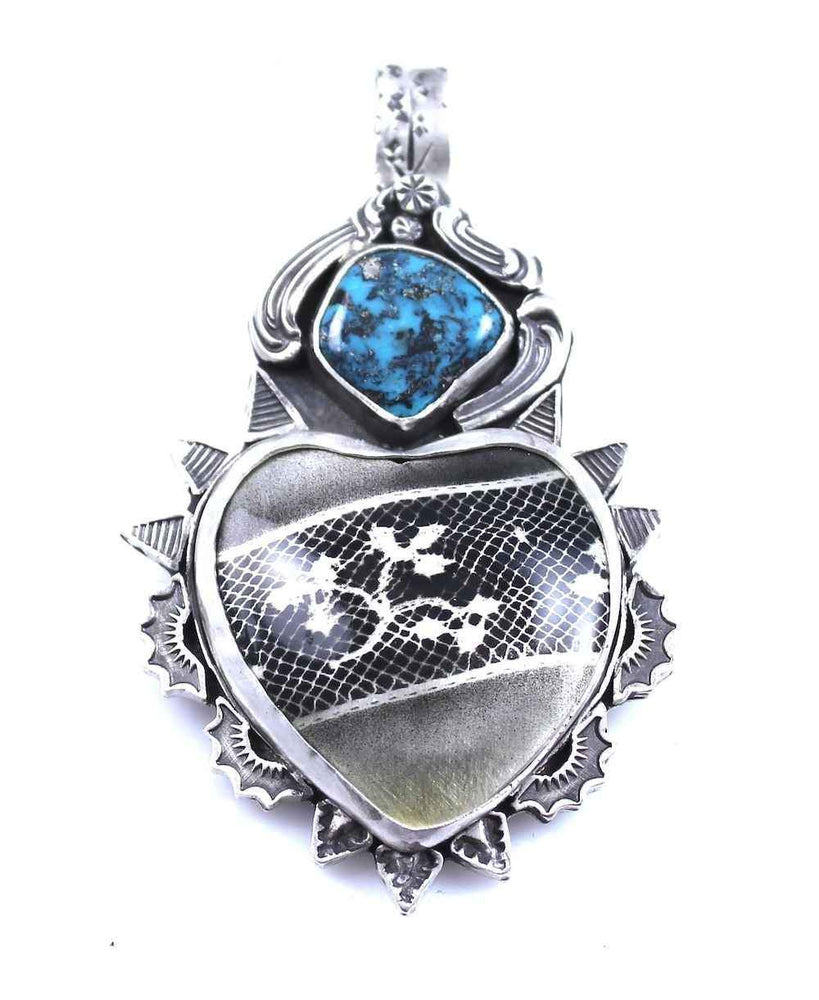 Lace Car Heart Pendant
