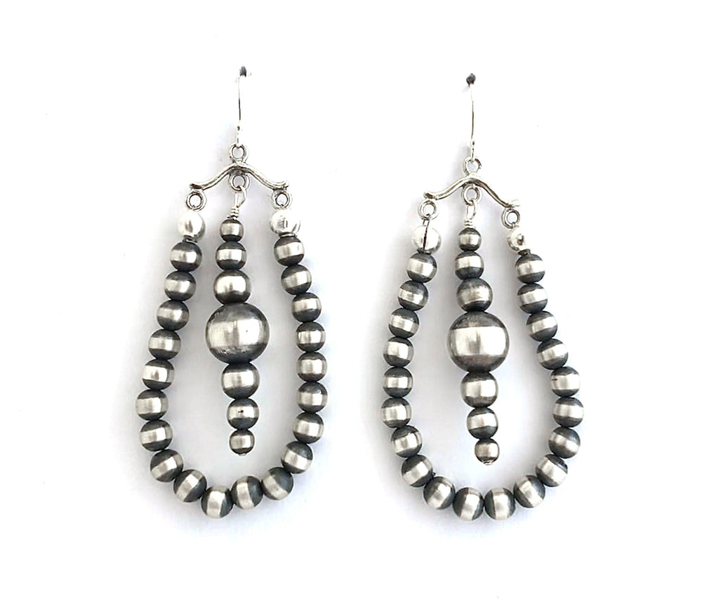 Loops with Dangle Center Earrings