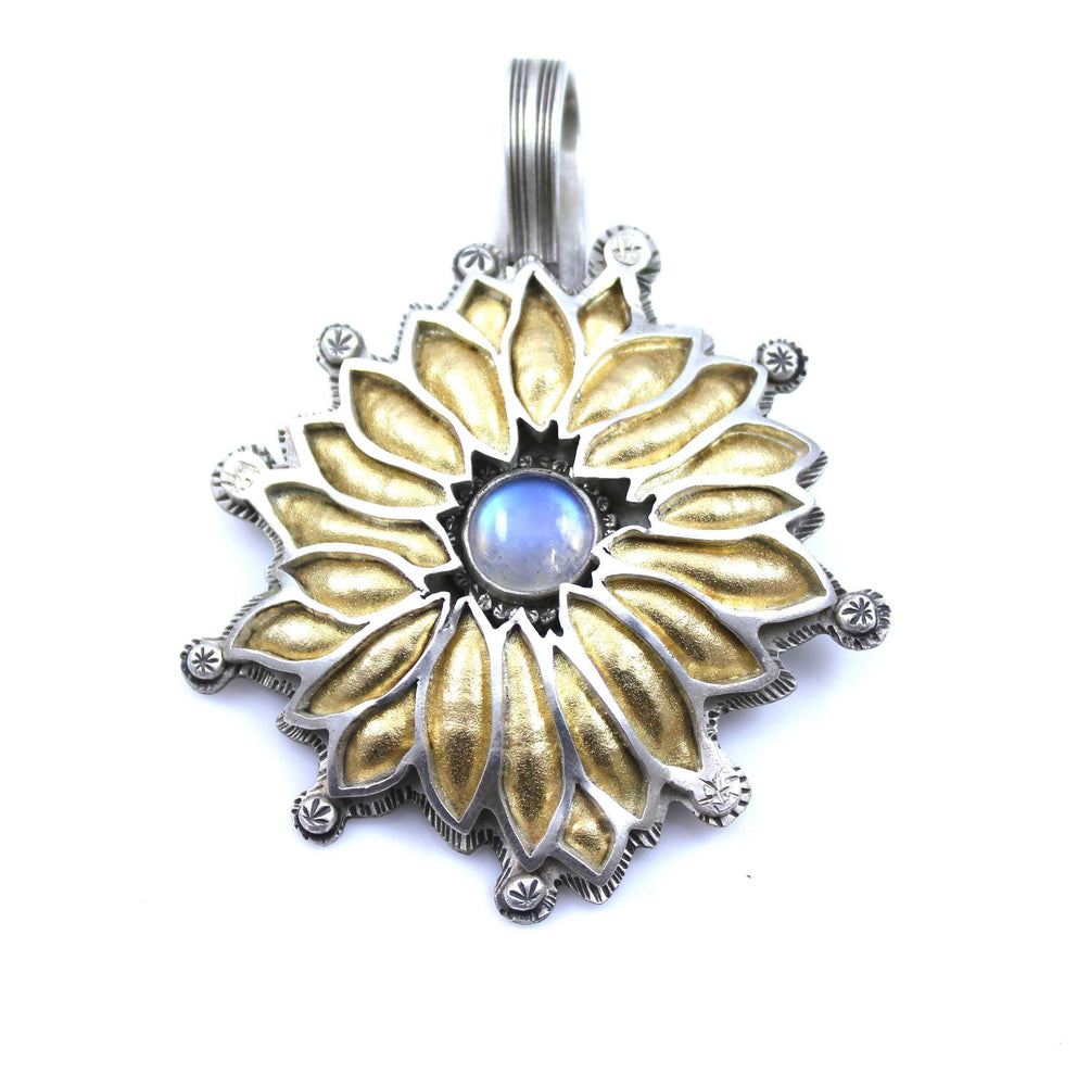 Moonstone Flower Pendant