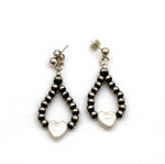 Pearl Hearts Drop Earrings