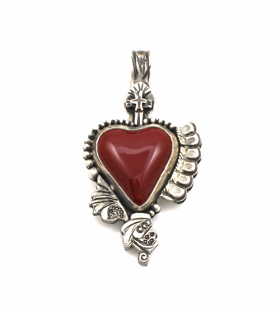 Red Car Heart Pendant