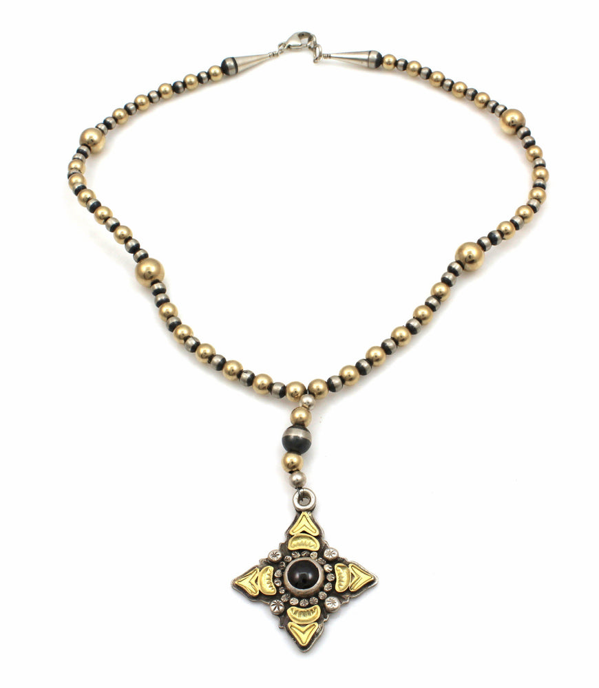 Lawrence Baca-Rosary Style Star Necklace-Sorrel Sky Gallery-Jewelry