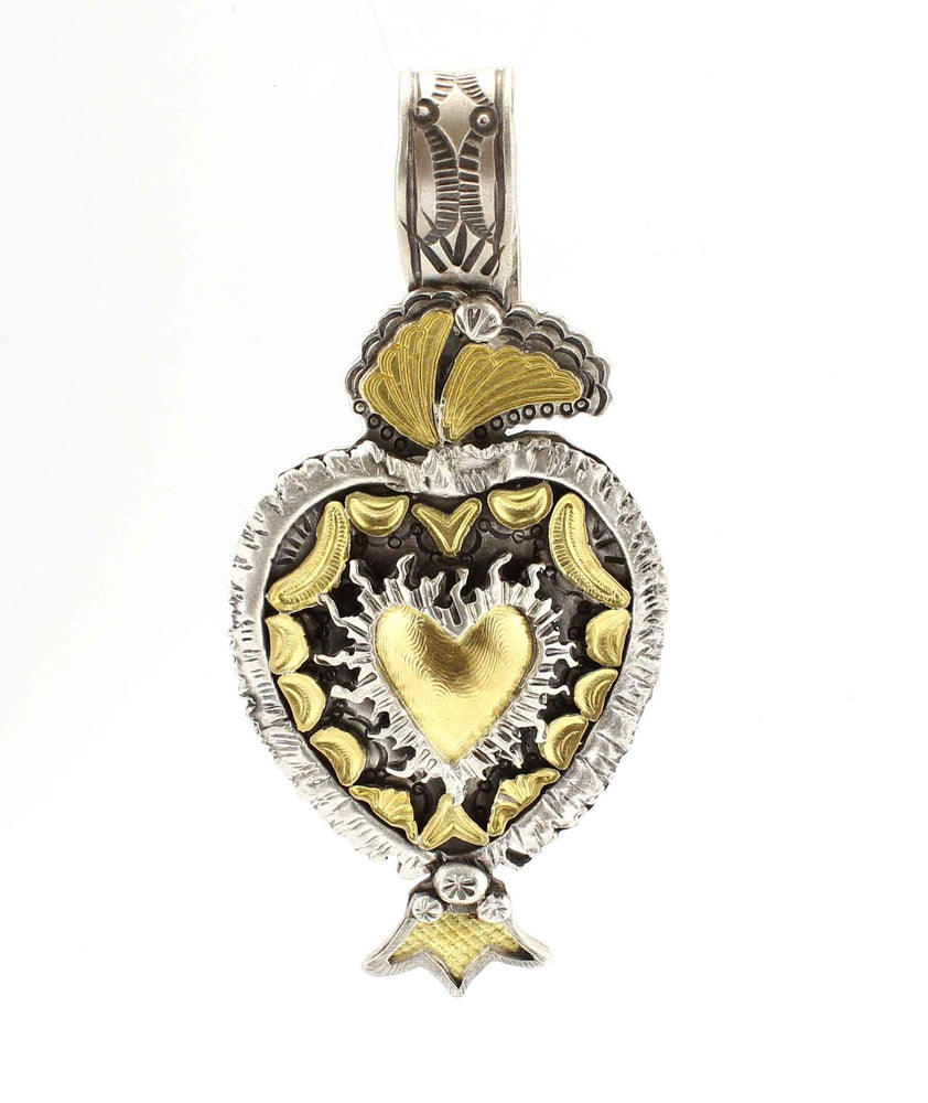 Lawrence Baca-Sacred Heart Pendant-Sorrel Sky Gallery-Jewelry
