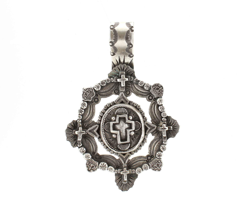 Silver Framed Cross Pendant