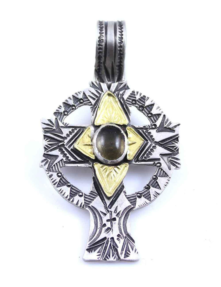 Lawrence Baca-Topaz Cross Pendant-Sorrel Sky Gallery-Jewelry