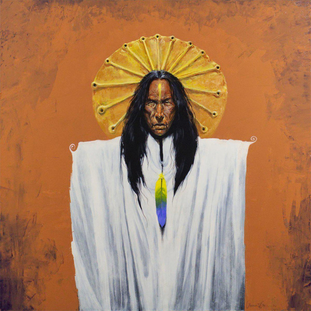 Sun Spirit Shaman-Painting-Lawrence Lee-Sorrel Sky Gallery
