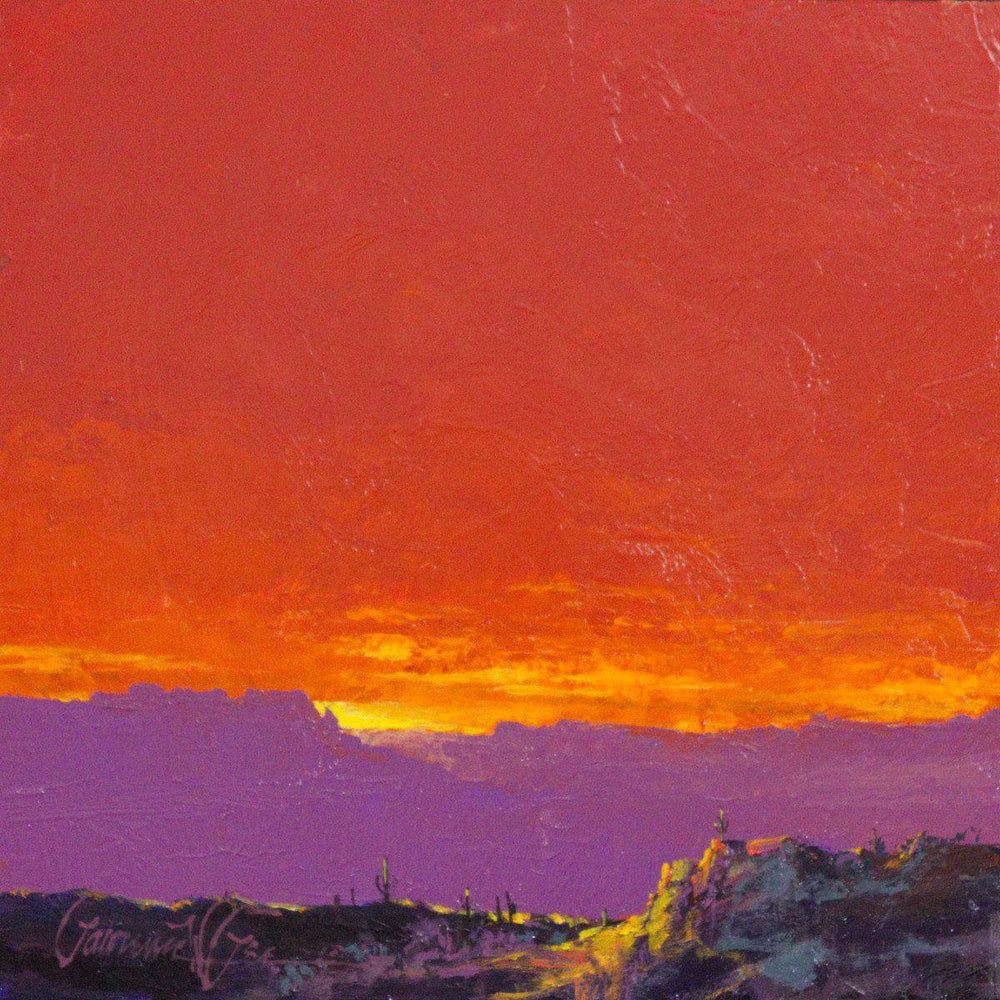 Sunset 2-Painting-Lawrence Lee-Sorrel Sky Gallery