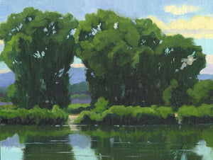 Lee MacLeod-Sorrel Sky Gallery-Painting-Cottonwood Reflections